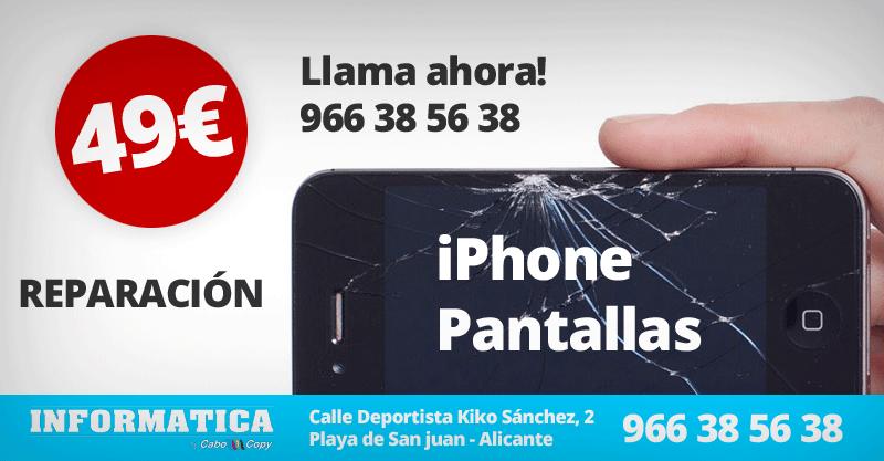 Reparación pantalla iPhone Alicante