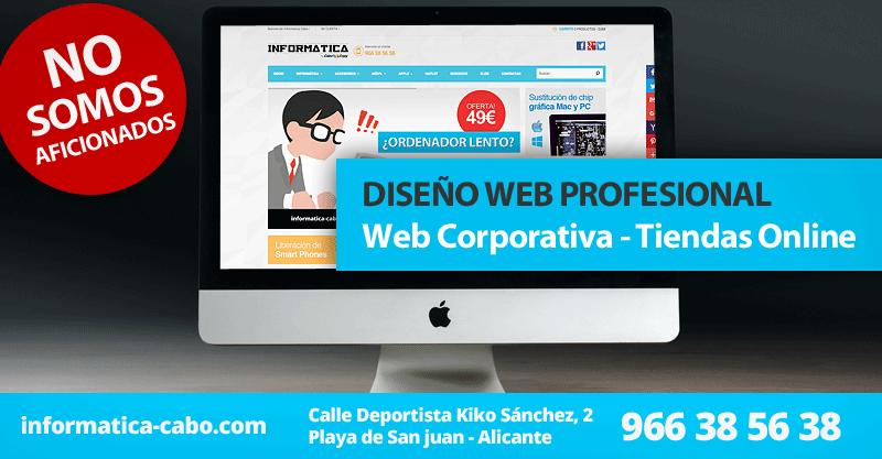 Diseño web desarrollo web Playa de San Juan Alicante