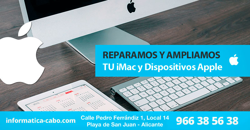 Reparación y mantenimiento ordenadores y dispositivos Apple en Alicante